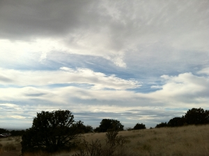 clouds on a southwestern horizon