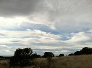 clouds on a southwestern horizon