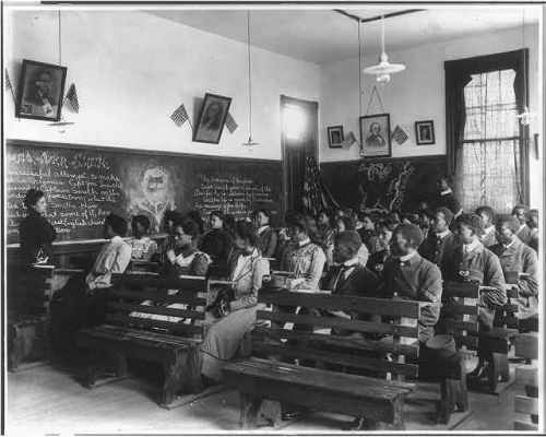 Students in history class, Tuskegee Institute